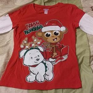 Girls Justice Christmas Shirt